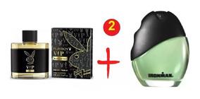 2 Perfume Masculino Ironman + Playboy Vip Black 100ml Cada