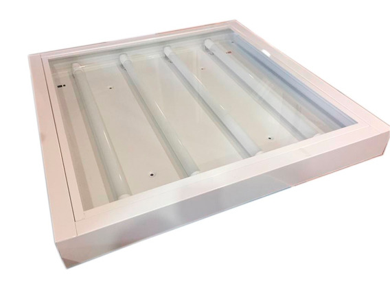 Luminária Led 65 X 65cm Com 4 Lâmpadas Led 10w Resistente