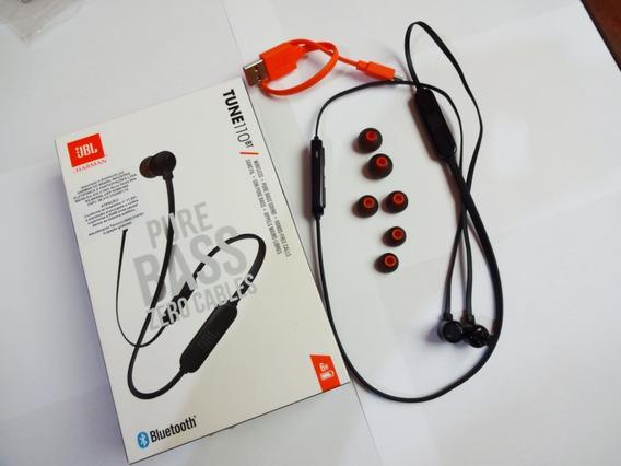 Fone Jbl Tune 110bt Preto - Fone De Ouvido Sem Fio Bluetooth