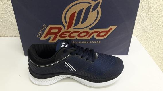 Tênis Jogging Masculino Record 9216- Marinho/preto