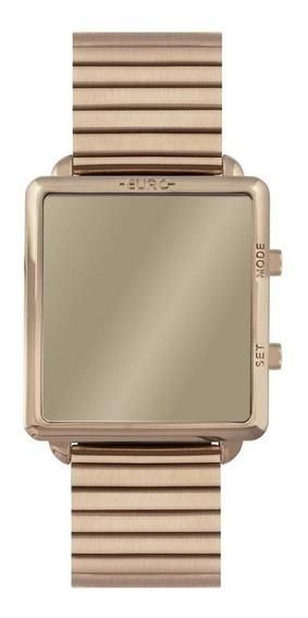 Relógio Feminino Euro Led Espelhado Rosé Eujhs31baj/4d