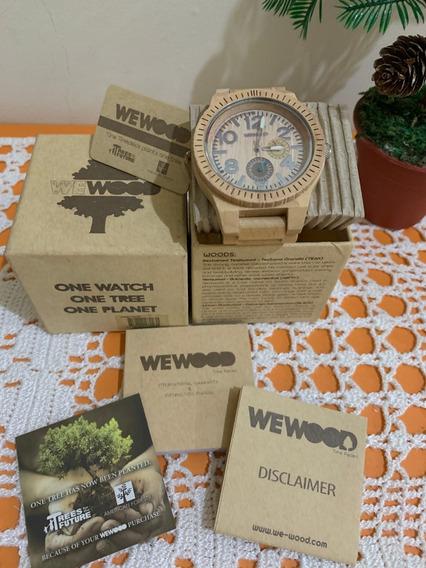 Relógio De Madeira Wewood Cronógrafo - Raro
