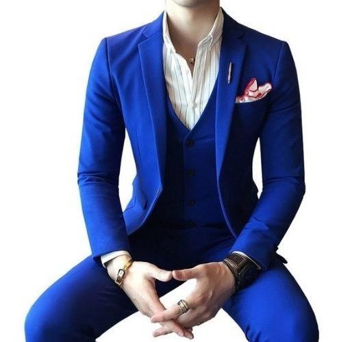 Terno Slim Fit - Azul Royal