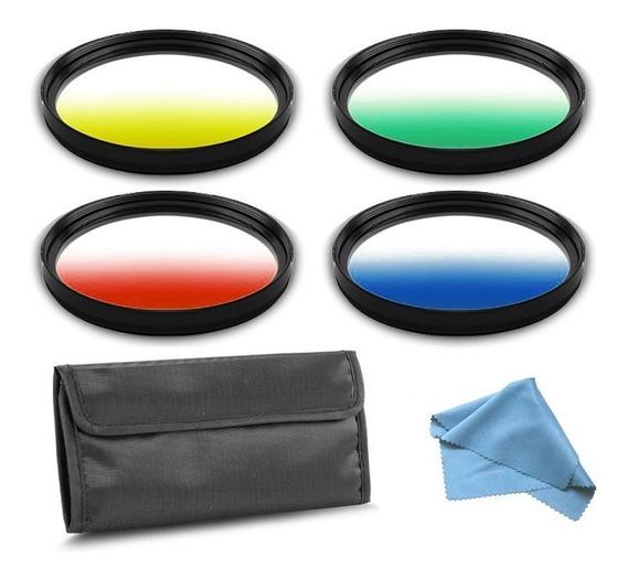 Kit Filtro Câmera Dslr Gradual Colour - Fotobestway 77mm