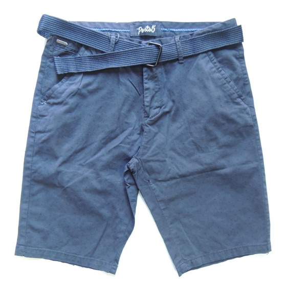 Bermuda Vestir Hombre Estampada Moda Pantalon Corto Quilmes