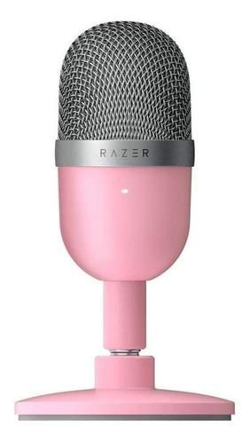 Imagen 1 de 1 de Micrófono Razer Seiren Mini condensador supercardioide rosa cuarzo