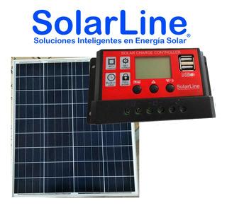 Panel Solar Fotovoltaico 60wp Mc4 C/ Regulador 10a Usbx2 5v