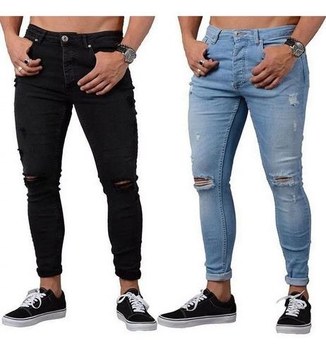 Jeans Entubados Lycrados Skinny, Tallas 28 A La 36