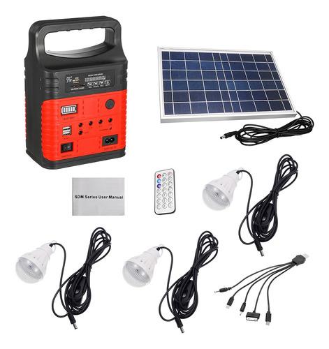 7500mah Emergency Led Mp3 Fm Solar Panel Power Lighting Sist