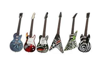 Guitarra Simil Electrica Tactil Paper Jamz Orig Toyco Oferta