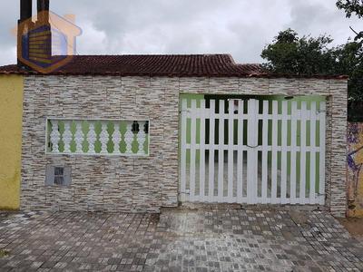 Casa Residencial Lado Praia Com 02 Dormitórios À Venda, Itaguaí, Mongaguá - Aceita Financiamento! - Ca0127