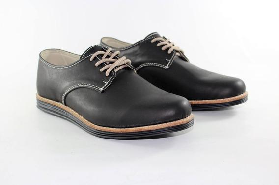 Zapato De Cuero Urbanos Acordonado Hombre Calidad Superior