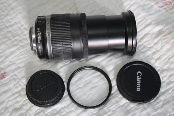 Lente Canon 18-200mm Ef-s Com Filtro Uv