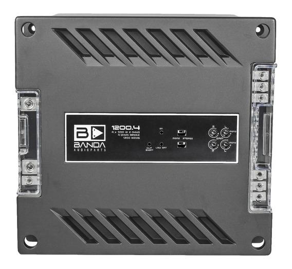 Modulo Amplificador 1200.4 12.4d 1200 Wrms 4 Canais 2 Ohms