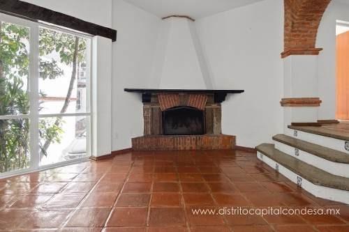 Casa Estilo Mexicano En Lomas De Tecamachalco En Renta