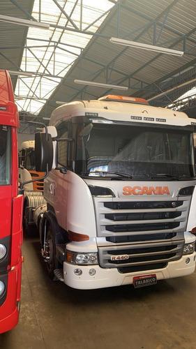 Caminhão Scania R-440  2014/14 Truck 6x2 Branca Nova