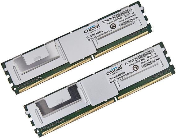 Memoria Ram Crucial 8gb Kit 4gbx2 Ddr2-667mhz Ecc Server