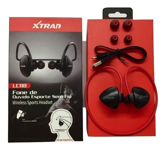 Fone De Ouvido Bluetooth Super Bass Xtrad Lc118 C/ Garantia