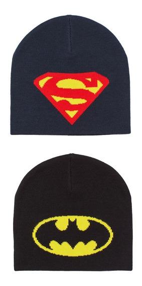 Gorros H&m Batman Y Superman Set De 2 Piezas Para Niño