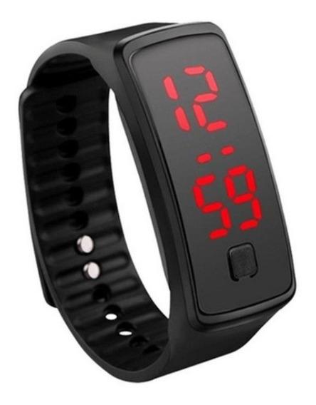 Relógio Led Digital Sports Ultrafino Luxo Preto Unissex