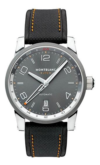 Relógio Mont Blanc 42 Mm Timewalker Voyager Utc 109137