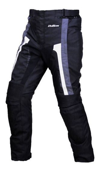 Pantalon Moto One Way Gris/blanco Proteccion Proskin Oficial