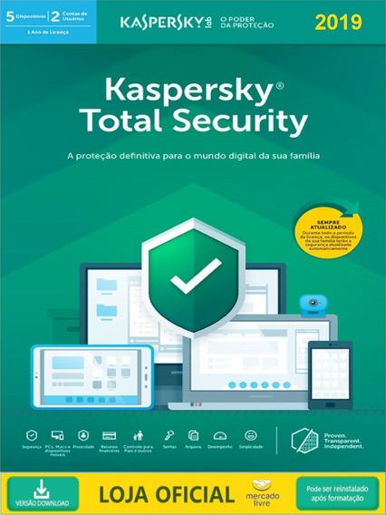 Kaspersky Total Security - 5 Dispositivos 2019