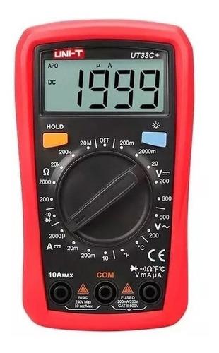 Multimetro Digital Uni-t Ut33c+ Temperatura Tester Ac/dc