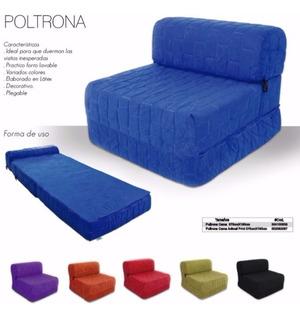 Poltrona-sofacama Individual Bipiel Color:ladrillo-are Regal
