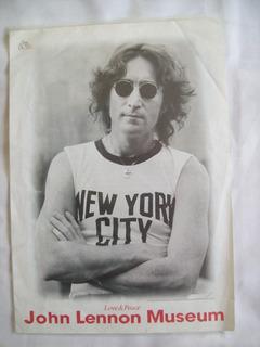 Folleto Del John Lennon Museum . Japan . Love & Peace