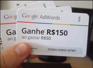 02 Cupons Adwords Gaste R$50,00 Ganhe R$150,00 Bônus Google