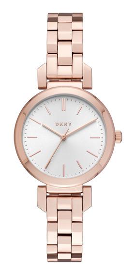 Reloj Dama Dkny Ny2592 Color Oro Rosado De Acero