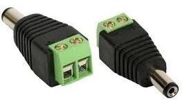 Kit 20 Adaptador Conect Borne X Plug P4 Macho P/ Cftv Câmera