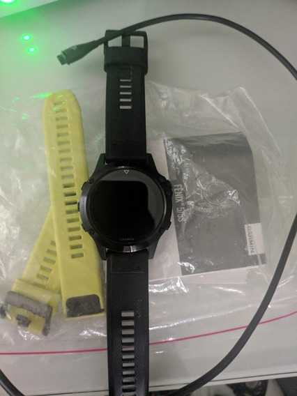 Relógio Garmin Fênix 5 Black Edition Safira