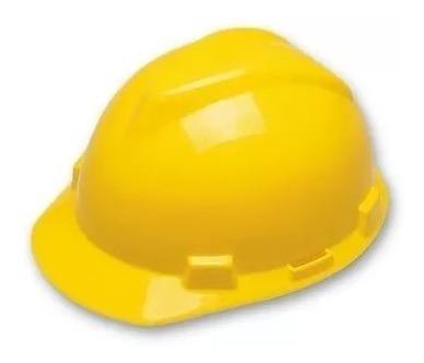 Capacete Seguranca Msa Amarelo Com Carneira