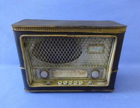 Radio Antigo De Lata Metal - Enfeite Decorativo