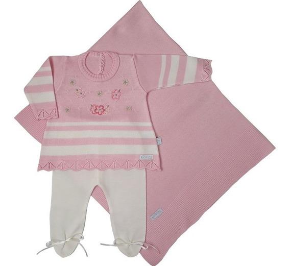 Saida Maternidade Menina Mini Vestido C/3 Peças-rosa Poupori