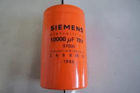 Capacitor Eletrolitico Siemens De 10000uf 70v Potencia