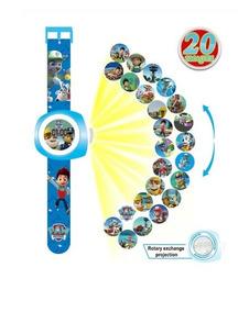Relógio Brinquedo Infantil Patrulha Canina Projeta 20 Imagem