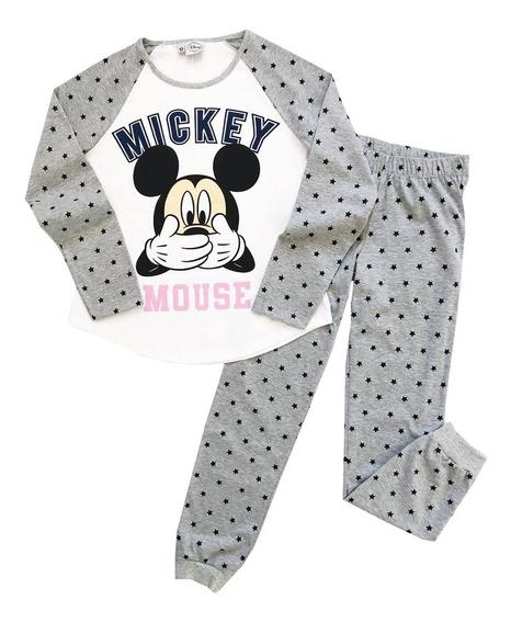 Pijama Manga Larga Adolescentes Mickey Disney