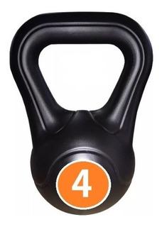 Pesas Rusas Kettlebell Plastica 4kg Bsfit Fitness Deporte