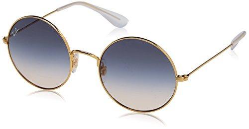 zapatos clasicos bonito diseño Mitad de precio Gafas De Sol Redondas Ja-jo De Mujer Ray-ban, Dorado, 50 Mm