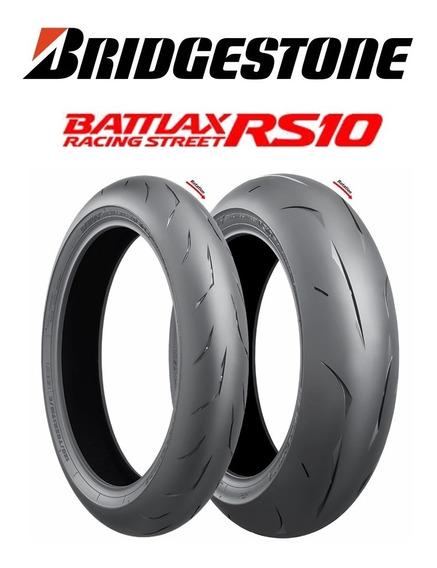 Par De Pneus Bridgestone Battlax Rs10 120/70r17+190/55r17