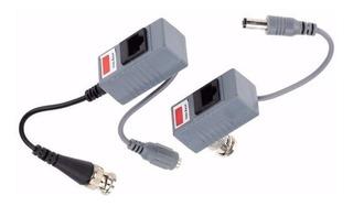 3 Pares Balun Transceptor Video Corriente X Cable De Red Utp