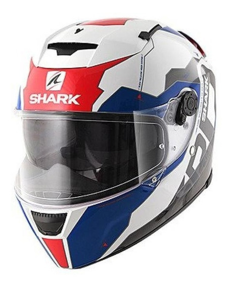Capacete Shark Speed R 2 Sauer Wbr - Branco/vermelho/azul
