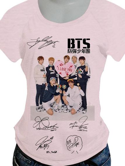 Camiseta Camisa Babylook Bts Jimin/suga/45 Opcoes Blusa 442