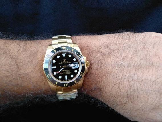 Relógio Submariner Gold Automático Vd Sátira!