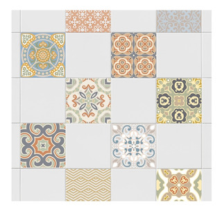 Azulejos Vinilos Decorativos De 20x20 Cm Cocina Baño X 14un