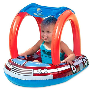 Asiento Inflable Camion Bombero Bestway Bebe 81x58 Cms Mdp