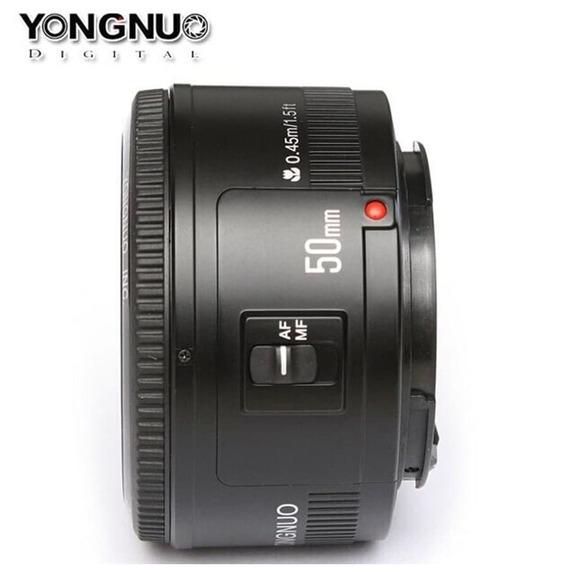 Lente Yongnuo 50mm F/1.8 P/ Câmeras Canon